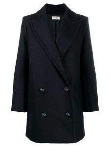 Zadig & Voltaire Motty stud detail coat - Blue