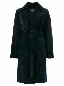 Zadig & Voltaire dropped shoulder coat - Blue