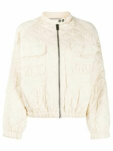 Zadig & Voltaire Bubble quilted bomber jacket - Neutrals