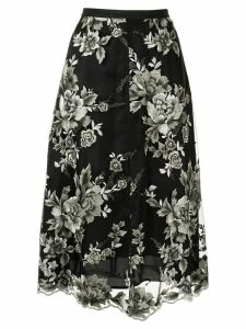 Antonio Marras floral-embroidered skirt - Black