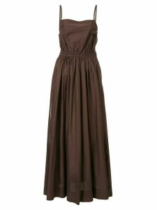 Matteau gathered long dress - Brown