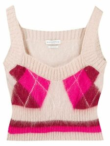 Ballantyne argyle knit top - Pink
