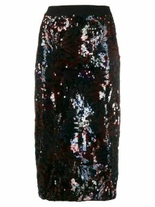 Essentiel Antwerp Tempta sequin pencil skirt - Black
