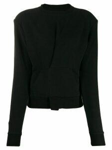 Unravel Project pintuck front sweatshirt - Black