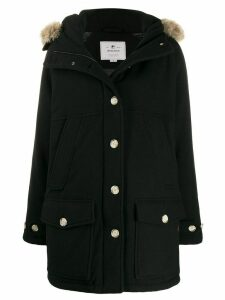 Woolrich fur hood parka coat - Black