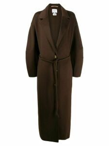 Nanushka Tube Belt Maxi coat - Brown