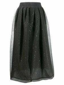 Fabiana Filippi asymmetric pleated skirt - Grey
