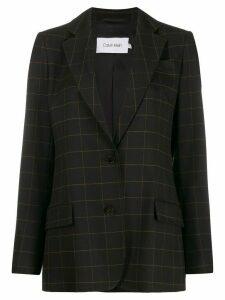Calvin Klein grid print blazer - Black