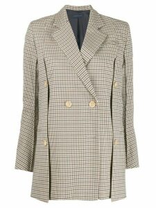 Eudon Choi check pattern blazer - Brown