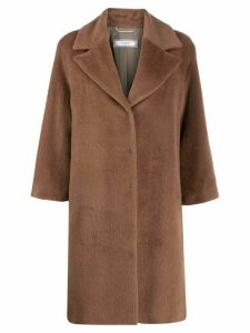 Peserico concealed front coat - Brown