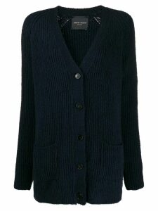 Roberto Collina V-neck cable knit cardigan - Blue