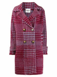 Essentiel Antwerp double buttoned houndstooth coat - Blue