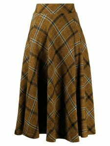 Roberto Collina check pattern skirt - Brown