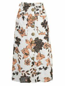 Nicholas floral print skirt - White