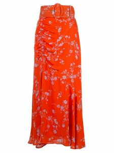 Nicholas Poppy print skirt - Red