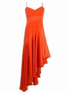 Nicholas paneled asymmetric hem dress - Orange