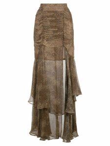 Nicholas dotted pattern skirt - Brown