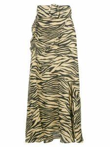 Nicholas zebra print skirt - Gold