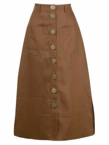 Nicholas stitched panel skirt - Brown