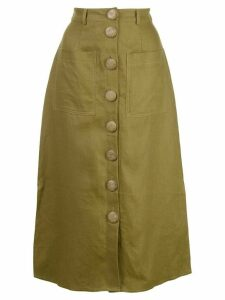 Nicholas stitched panel skirt - Green