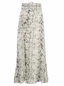 Nicholas snakeskin pattern skirt - White