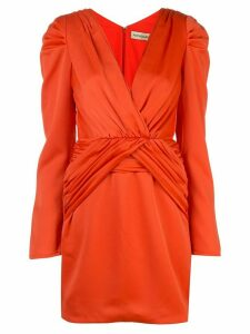 Nicholas ruched detail dress - Orange