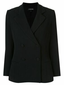 Cushnie fitted double-breasted blazer - Black