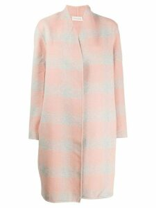 By Malene Birger checked oversized coat - Pink