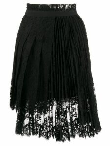 Ermanno Scervino pleated lace skirt - Black