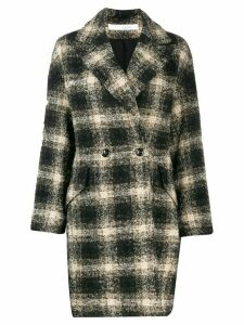 IRO checked double breasted coat - Black