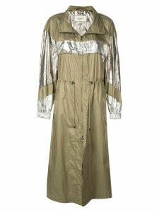 Isabel Marant Étoile metallic trench raincoat - Gold