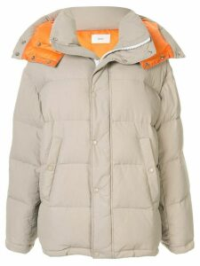 G.V.G.V. padded zipped coat - Brown