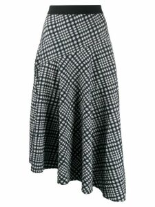 By Malene Birger grid asymmetric skirt - Blue