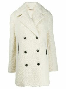 By Malene Birger teddy-effect coat - White