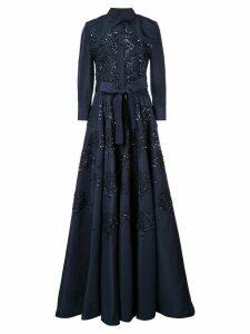 Carolina Herrera shirt-style evening dress - Blue