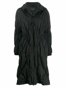 Emporio Armani diamond quilted coat - Black