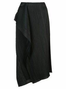 Pleats Please Issey Miyake draped pleated skirt - Black