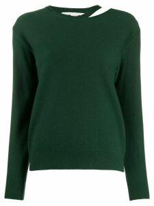 Stella McCartney split-neck boiled sweater - Green