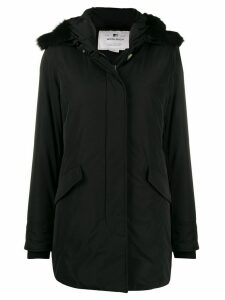 Woolrich fur hooded coat - Black