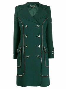Elisabetta Franchi contrast-trimmed double-breasted coat - Green