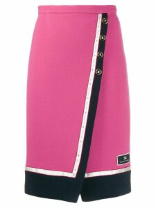 Elisabetta Franchi high-waisted wrap skirt - Pink