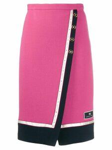 Elisabetta Franchi high-waisted wrap skirt - Pink