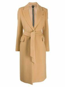 LIU JO belted midi coat - NEUTRALS