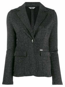 LIU JO single-breasted metallized blazer - Grey