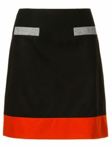 Paule Ka colour block skirt - Black