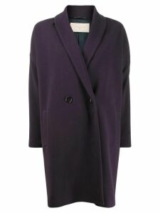 Circolo 1901 double-breasted coat - Purple