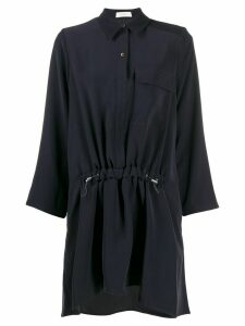 Áeron drawstring-waist shirt dress - Glacé/Blue Black