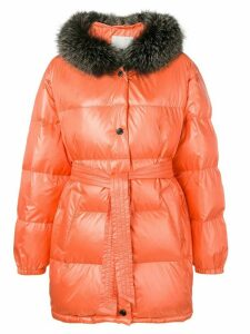 Yves Salomon Army oversized padded coat - ORANGE
