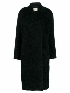 Dorothee Schumacher flat fur coat - Blue