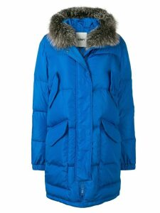 Yves Salomon Army oversized parka coat - Blue